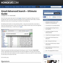 Gmail Advanced Search - Ultimate Guide