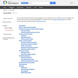 Gmail Contextual Gadgets Developer's Guide - Gmail APIs and Tools - Google Code