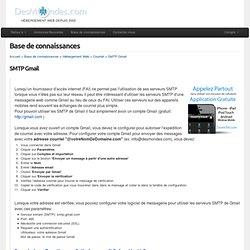 SMTP Gmail - Base de connaissances - DesMondes.com inc.