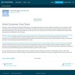 Gmail Customer Care Team: smithlora912