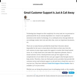 Gmail Customer Support Is Just A Call Away