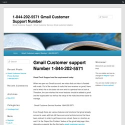 Gmail Customer support Number 1-844-202-5571