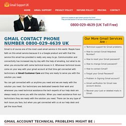 Gmail Customer Support +44-800-029-4639 Toll Free Phone Number UK