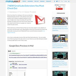 7 Fabulous Gmail Labs Extensions You Must Check Out