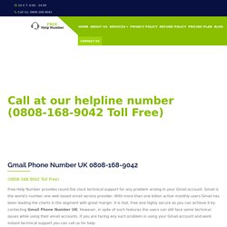 Best Gmail services Helpline Number