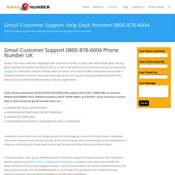 Gmail Support 0800-878-6004 UK Phone Number
