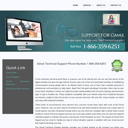 Gmail Technical Support Number 1-877-776-6261