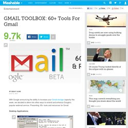 GMAIL TOOLBOX: 60+ Tools For Gmail