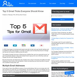 Top 5 Gmail Tricks Everyone Should Know