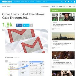 Gmail Users to Get Free Phone Calls