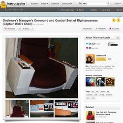 DIY Cardboard Captain Kirk's Command Chair