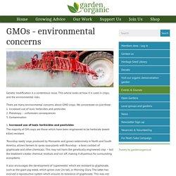GMOs - environmental concerns