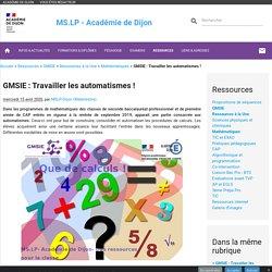 GMSIE : Travailler les automatismes !