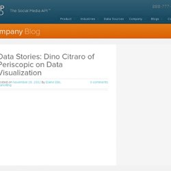 Data Stories: Dino Citraro of Periscopic on Data Visualization | Company Blog