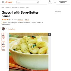 Gnocchi with Sage-Butter Sauce Recipe