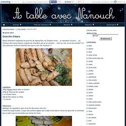 Gnocchis d'okara - A table avec Nanouch