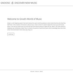 Gnoosic - Discover new Music - StumbleUpon