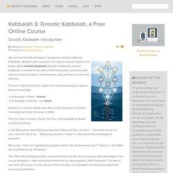 Gnostic Kabbalah: Introduction