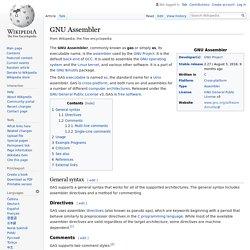 GNU Assembler - Wikipedia