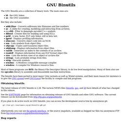 GNU Binutils