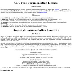 GNU Free Documentation License