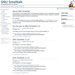 GNU Smalltalk | The Smalltalk for those who can type