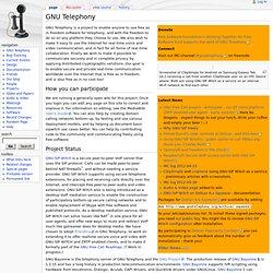 GNU Telephony