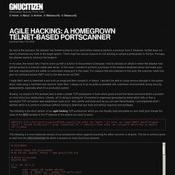 Agile Hacking: A Homegrown Telnet-based Portscanner