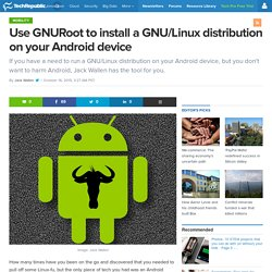 Use GNURoot to install a GNU/Linux distribution on your Android device