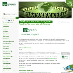 Go Green Members Program
