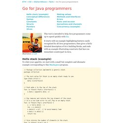 Go for Java programmers