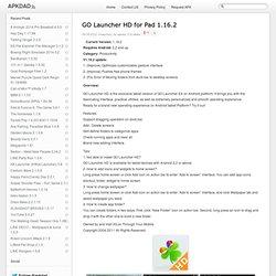 GO Launcher HD pour Pad 1.16.2