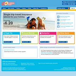 Go Travel Insurance - Cheap Travel Insurance, Annual Travel Insurance and Holiday Insurance