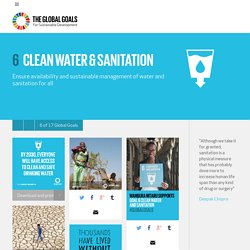 Goal 6: Clean Water & Sanitation