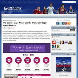The Gender Gap: Where are the Women in Major Sports Media?