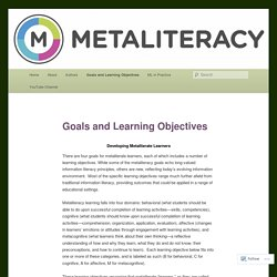 Goals and Learning Objectives