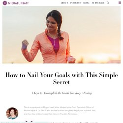 How to Nail Your Goals with This Simple Secret - Megan Hyatt Miller