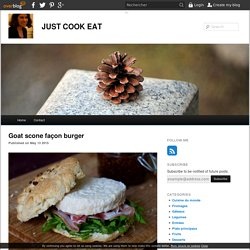 Goat scone façon burger - JUST COOK EAT