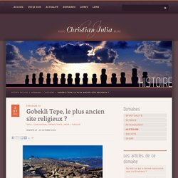Gobekli Tepe, le plus ancien site religieux ? - Le blog de Christian Julia