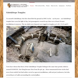 Gobeklitepe Temples - Gobeklitepe