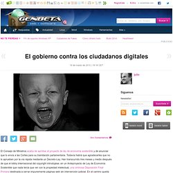 El gobierno contra los ciudadanos digitales