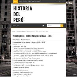 Primer gobierno de Alberto Fujimori (1990 - 1995)