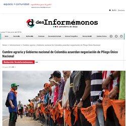Cumbre agraria y Gobierno nacional de Colombia acuerdan negociación de Pliego Único Nacional