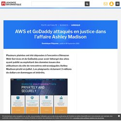 AWS et GoDaddy attaqués en justice dans l'affaire Ashley Madison
