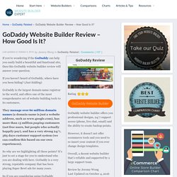 GoDaddy Website Builder Review - How Good Is It?