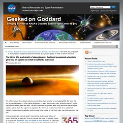Geeked on Goddard » The birth, life, and death of alien planets: Goddard exoplanet scientists give you an update on what we (think) we know