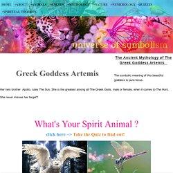 Greek Goddess Artemis - Symbols & Powers