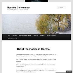 About the Goddess Hecate