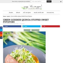 Green Goddess Quinoa Stuffed Sweet Potatoes