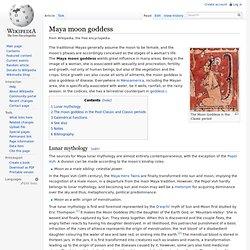 Maya moon goddess
